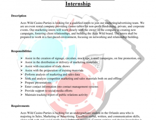Marketing Internship