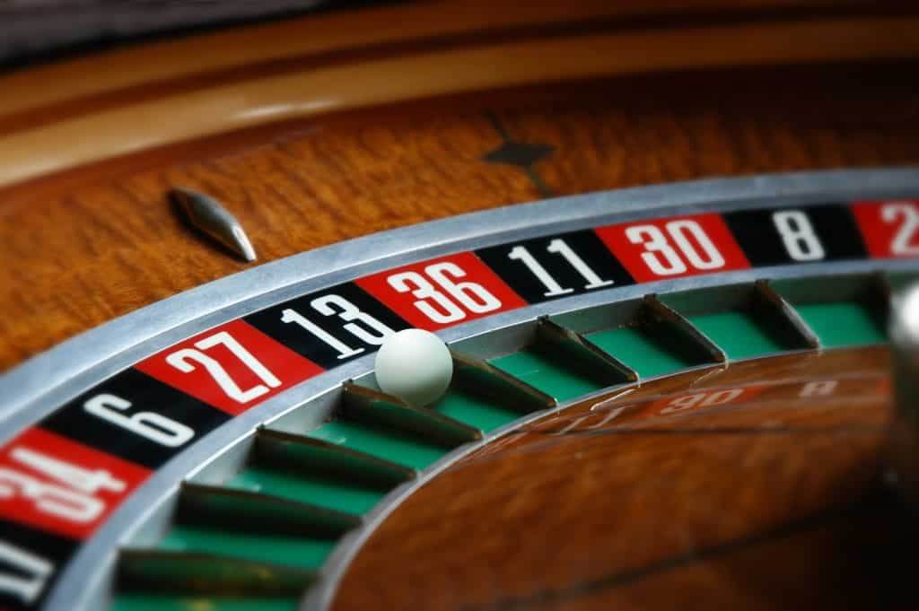close up of roulette wheel