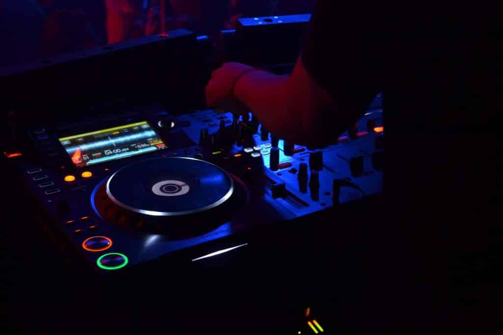 dj with equipment